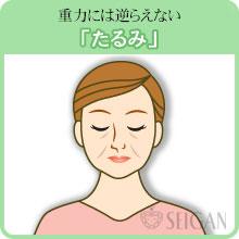 たるみの悩み|東京 三軒茶屋 からだのことなら|肌・頭皮(薄毛)の悩みの改善に「ヒト幹細胞と植物幹細胞による」メディカル系フェイシャルエステケア【FCR・リアボーテハーブ・ACトリートメント・クレアスキン基礎化粧品の正規取扱いサロン】