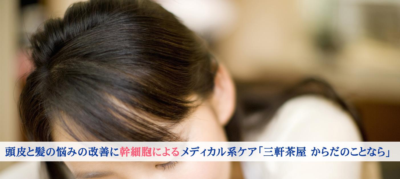 東京 三軒茶屋 からだのことなら|肌・頭皮(薄毛)の悩みの改善に「ヒト幹細胞と植物幹細胞による」メディカル系フェイシャルエステケア